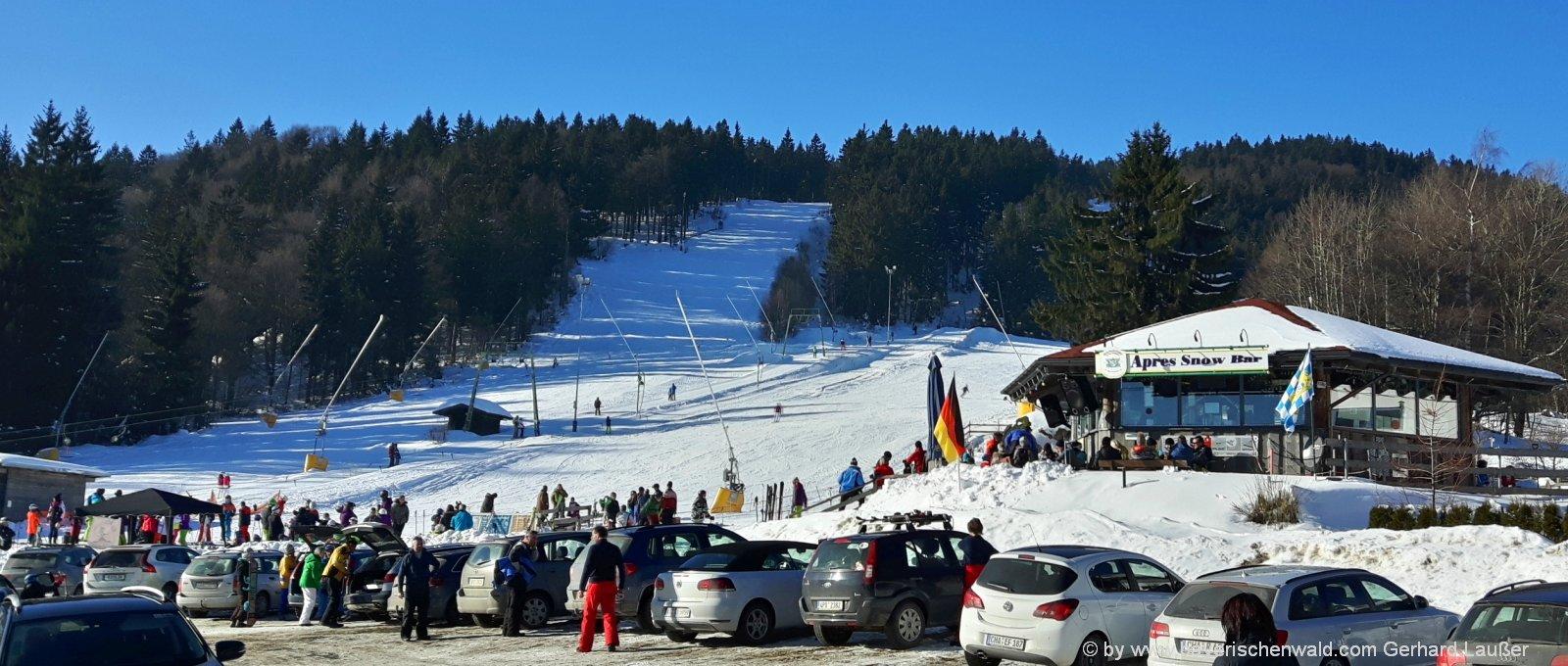 Skiurlaub am Eck Riedelstein Skifahren im Bayerischen Wald